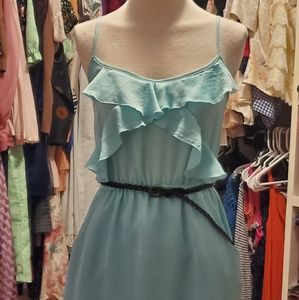 CHARLOTTE RUSSE TURQUOISE DRESS - SIZE SMALL